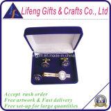 Установленные штанга связи коробки подарков бархата высокого качества и Cufflinks
