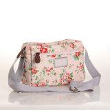 (99032-2) Bolsa floral impermeável cor-de-rosa dos sacos de ombro da lona do PVC