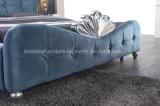 Rey de lujo Bed de la tela del diseño italiano A05