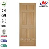 Platte-hölzerne Tür der Kiefer-6-Panel