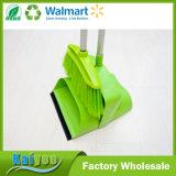 Compartimiento y escoba a prueba de viento plásticos movibles verdes de la alta calidad