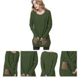 Maglione del cachemire lavorato a maglia disegno unico verde scuro