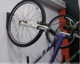 Ganchos revestidos pretos PV006 da bicicleta da parede do metal