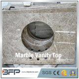 Bancada de mármore da vaidade para o banheiro com tratamento facilitado da borda