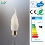 Bulbo plástico de la vela del poder más elevado 6W LED (CE RoHS)
