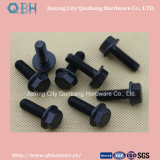 Hexagon Flange Bolts ASME B 18.2.3.4 m M5-M16 Black Cl. 4.8/6.8/8.8/10.9