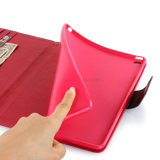 Grober Stria-Leder-Kasten-Schlaf/wacher Funktion PU-Deckel für Tablette