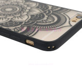 Samsungのための透過古典的な花TPUの可動装置か携帯電話の箱