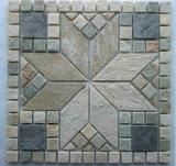 옥외의, 자연적인 슬레이트 벽면 경작된 돌을%s 모자이크 슬레이트