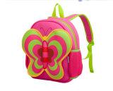 El nuevo diseño al por mayor de la mariposa linda del bolso de escuela de la Niña