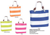 Ladiesのための昇進のStripe Printing Tote Beach Bag