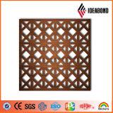 中国の製造者からの天井の装飾の屋外の装飾のためのIdeabondデザインCNCによって切り分けられるアルミニウム穴があいたパネル