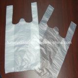 Sacchetto di plastica della maglietta di formato su ordinazione per il supermercato