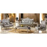 Mobilia del salone con il sofà di legno impostato (503A)