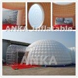 Tente gonflable de dôme de décoration d'éclairage d'usager avec des éclairages LED