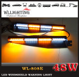 48W LED Warning Dash Visor Light mit Suction Cup