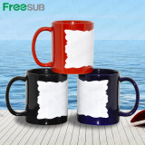 Manufaktur Sublimation Mug mit White Patch Irregular Edge