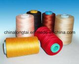 Hilo de coser teñido el 100% del poliester del tubo
