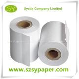 Papier thermosensible Rolls de faisceau de blancheur élevée de papier en plastique d'utilisation