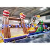 子供屋内PVC障害物コースInflatables/Militaryの基礎訓練キャンプの膨脹可能な障害物コース