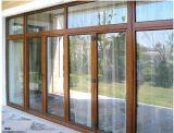 二重ガラスをはめられたアルミニウム開き窓のドア