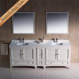Fed-1074 mobilia diritta libera moderna superiore del bagno di 84 di pollice del caffè espresso vanità della stanza da bagno
