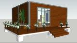 Chambre modulaire préfabriquée/préfabriquée de paquet plat de 20FT de Conainer avec le revêtement en bois