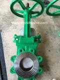 De pneumatische Actuator Klep van de Poort van het Mes van het Koolstofstaal (WDS)