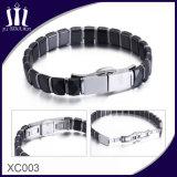 Zwarte Gefacetteerde Ceramische Armband