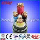 Conductor de aluminio con aislamiento de PVC de cable con cinta de acero blindado