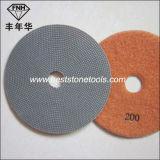 Almofadas de polonês de vidro de pedra Electroplated do diamante ED-1