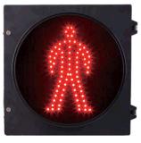 12 Inch Semáforo LED Pedestre com Humano Vermelho