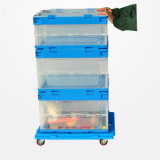 Коробка оборачиваемости японского типа прозрачная ясная пластичная с крышками
