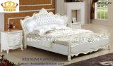 旧式で高貴なイタリアの革Size Wooden Soft Bedroom王の家具
