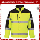 Люди работают высокая куртка Workwear Softshell видимости