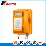 LCD 디스플레이 Knsp-18LCD를 가진 날씨 증거 전화는 전화를 방수 처리한다