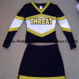 Metallische glänzende Cheerleading-Uniformen