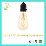 Stoele St48 110V/220V Dimmable LEDのフィラメントの球根の黄褐色の球根
