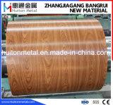 Feuille d'acier PPGI imprimée en bois recouvert de couleur