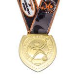 Médaille en laiton antique de basket-ball d'émail avec la lanière