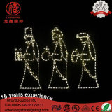 LED 1.5m IP65 Grande Nativité 3 Wise Men Holiday Outdoor Christmas Light pour Décoration de pelouse