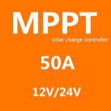 Blauer intelligenter MPPT Solarcontroller der Cer RoHS SGS-Fangpusun aufladeeinheits-50A