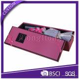 Rectángulo de embalaje de regalo de lujo personalizado de papel y caja de flores redonda