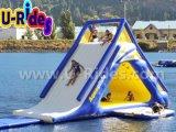 jogo inflável apertado da água da corrediça de água do ar