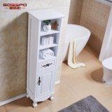 Module imperméable à l'eau blanc de vanité de salle de bains en bois solide de peinture (GSP14-007)