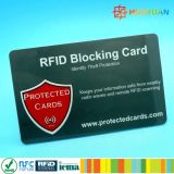 Carpeta modificada para requisitos particulares profesional RFID de Protactor de la tarjeta de RFID que bloquea la tarjeta