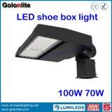 iluminación de 100W Shoebox LED para el parque del jardín del almacén de la acera del estacionamiento