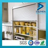 Profilo di alluminio di alluminio personalizzato per l'armadio da cucina dell'otturatore del rullo