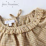 Платья 100% девушок шотландки хлопка Phoebee на лето