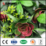 12 Pieces 50 X50cm Home Decor UV extremamente denso protegido Hedge Artificial em Planter